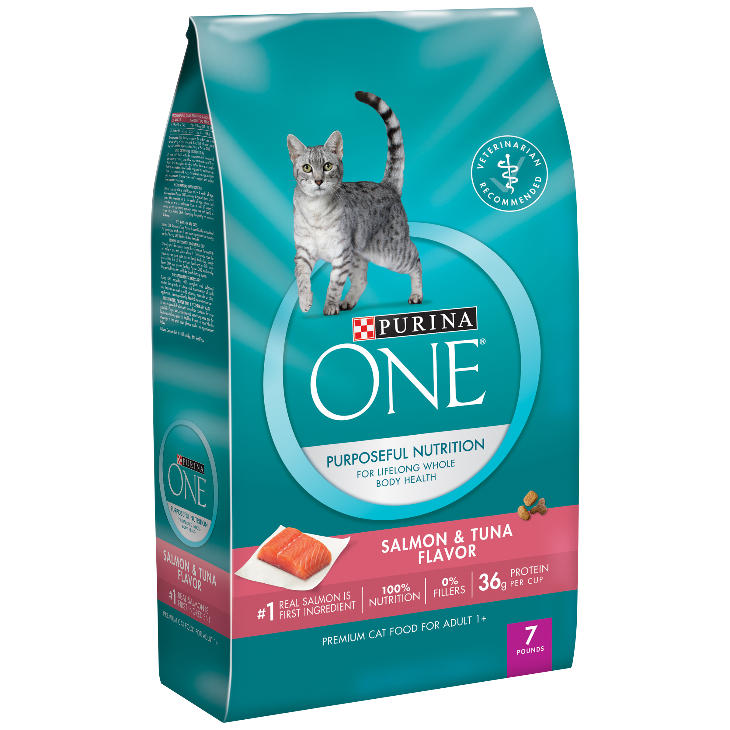 Purina ONE Salmon & Tuna Flavor Cat Food 7 lb. Bag