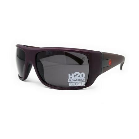 Dragon Reverb Sunglasses (DRAGON Sunglasses VANTAGE H2O 619 Matte Redwood Rectangle 68x14x125 )