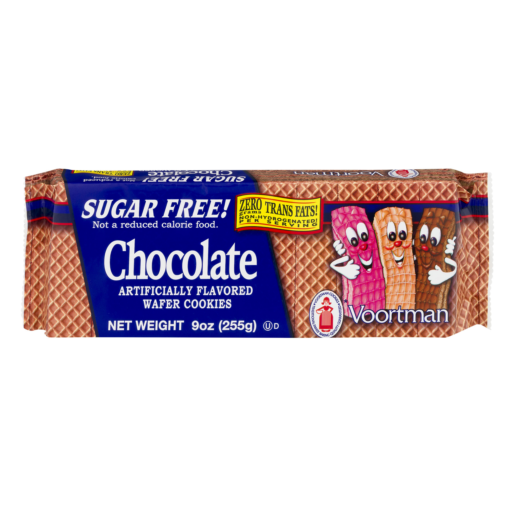 Voortman Sugar Free Wafer Cookies Chocolate, 9.0 OZ