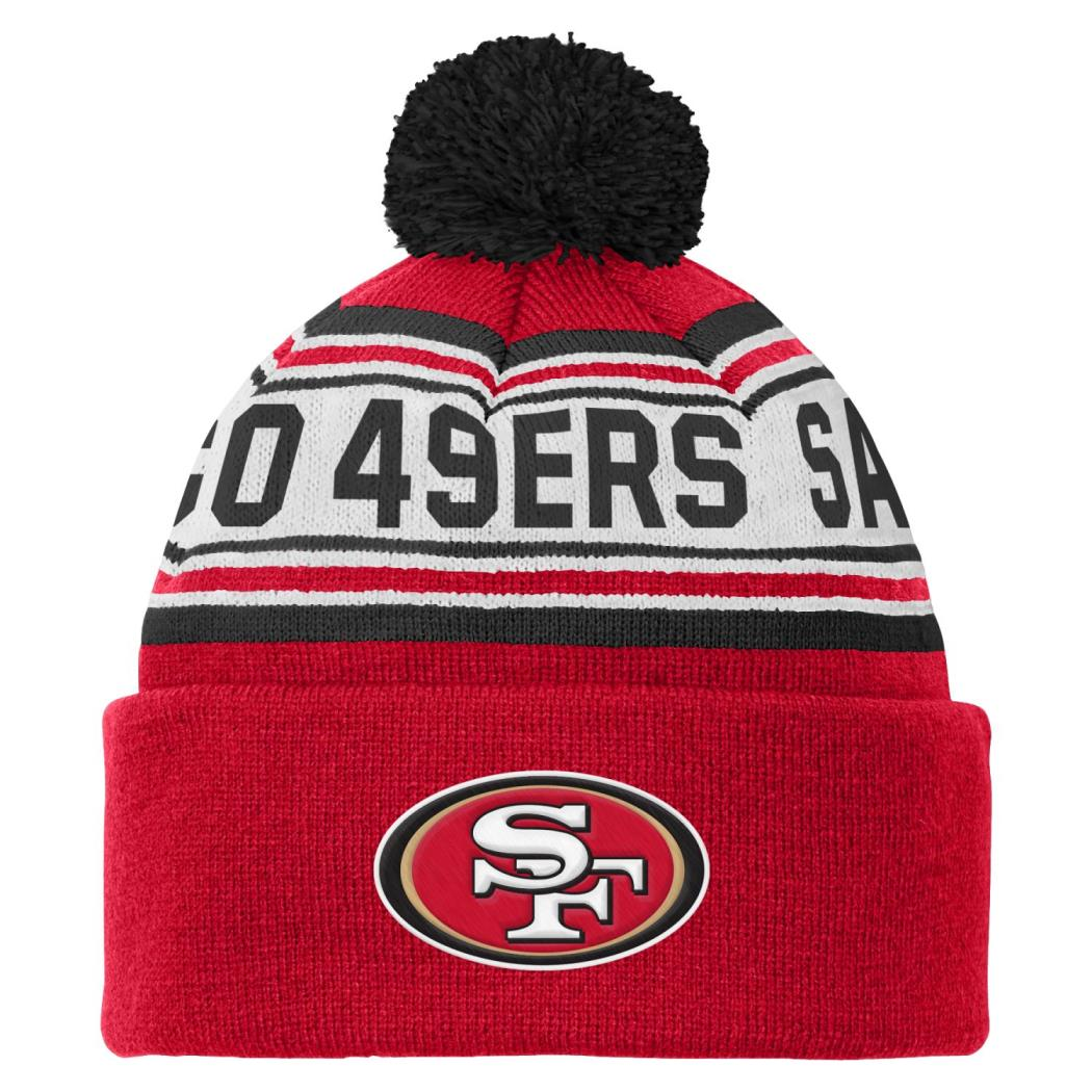 San Francisco 49ers Youth NFL Cuffed Knit Hat w  Pom by Outerstuff