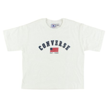 Converse Girls Vintage Arch Logo T Shirt White - Cute Converse For Girls