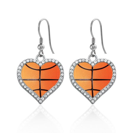 Basketball Open Heart Earrings](Basketball Earrings)
