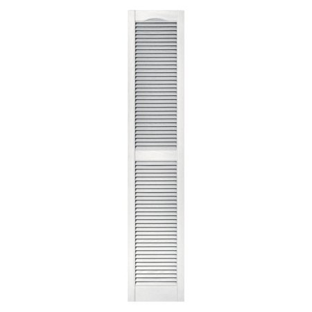 Builders Edge 12W in. Louvered Vinyl (Match Vinyl Shutters)