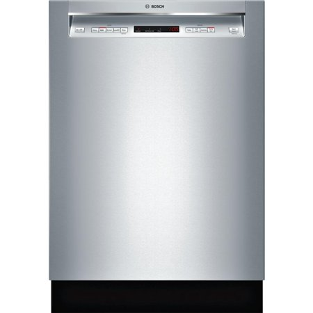 SHEM63W55N 24 Energy Star Rated 300 Series Recessed Handle Dishwasher with 16 Place Settings  3 Racks  Tall Tub  5 Wash Cycles  and 4 Wash Options  in Stainless Steel