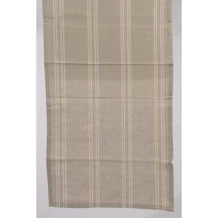 "55"" x 15.75"" Naturelle et Terreuse Brown and White Striped Table Runner - image 1 of 1"