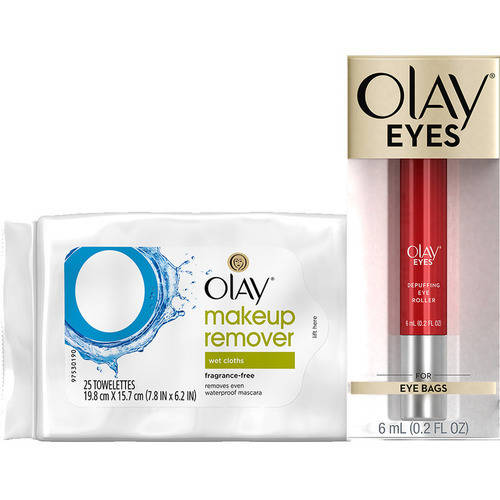 Olay Eyes Eye Depuffing Roller with BONUS Makeup Remover Wipes