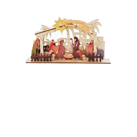 6 do it yourself nativity punch out set christmas table top 6 do it yourself nativity punch out set christmas table top decoration solutioingenieria Choice Image