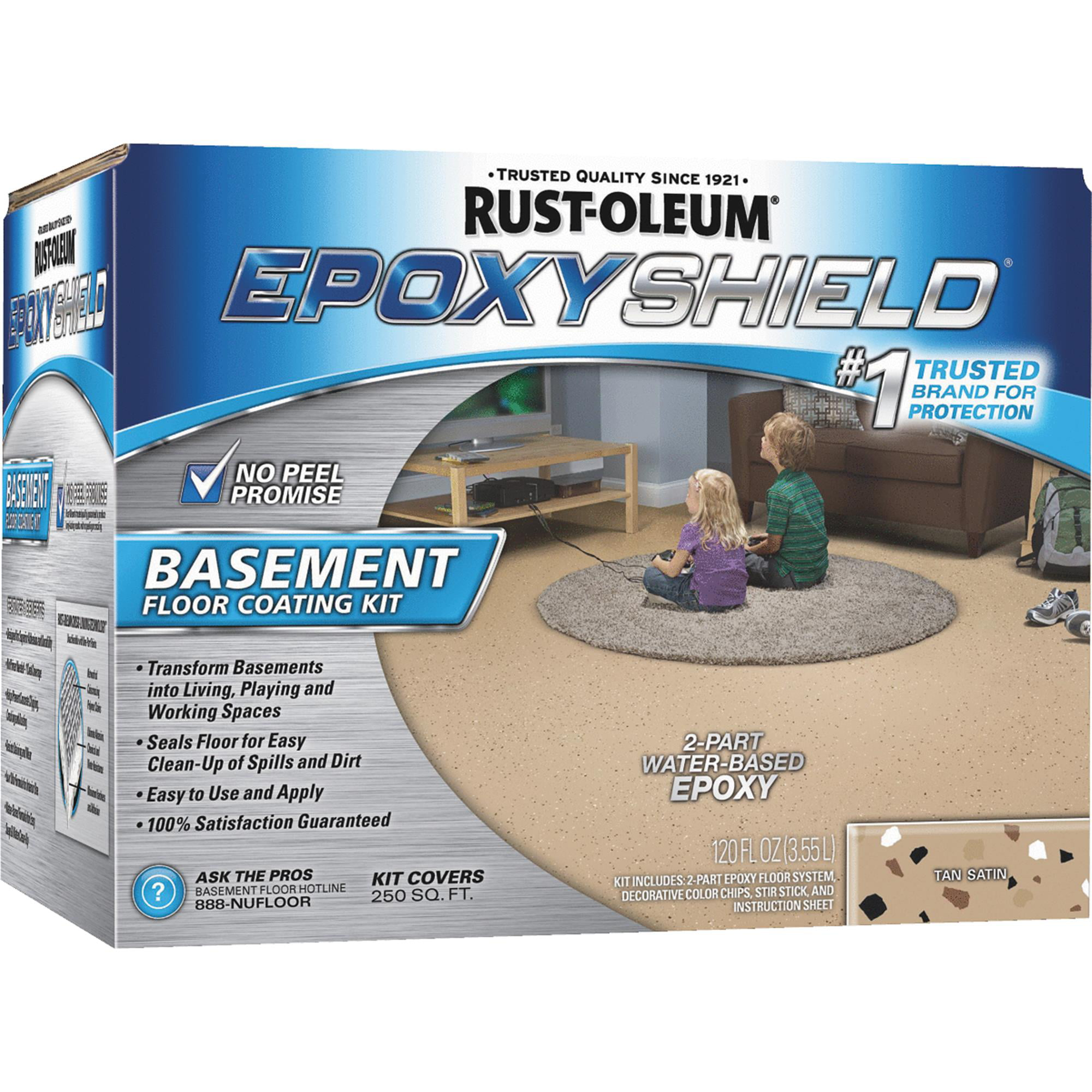 Epoxy Shield Basement Floor Coating Kit, Tan, 1-Gal