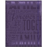"Embossed Gloss Expressions Photo Album, 4.75"" x 6.5"", 100 Pocket, Family, Deep Purple"