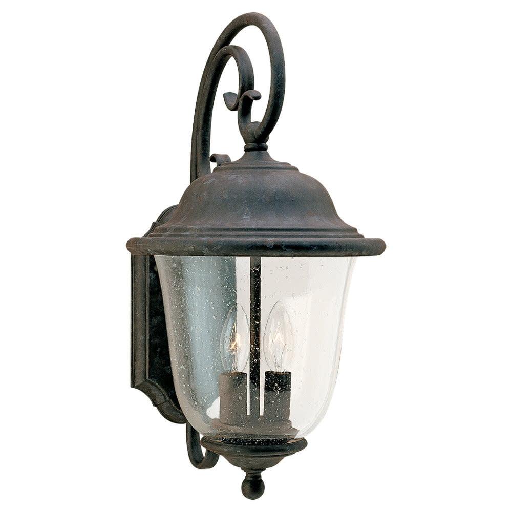 Sea Gull Lighting 8460 Trafalgar 2-Light Outdoor Lantern Wall Sconce