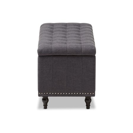 Hawthorne Collection Storage Bench in Dark Gray - image 6 of 8