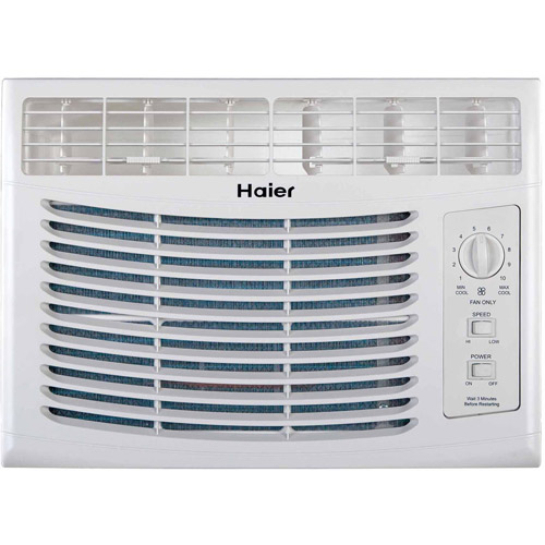 Haier HWF05XCP-L 5,000-BTU Mechanical Window Air Conditioner, White