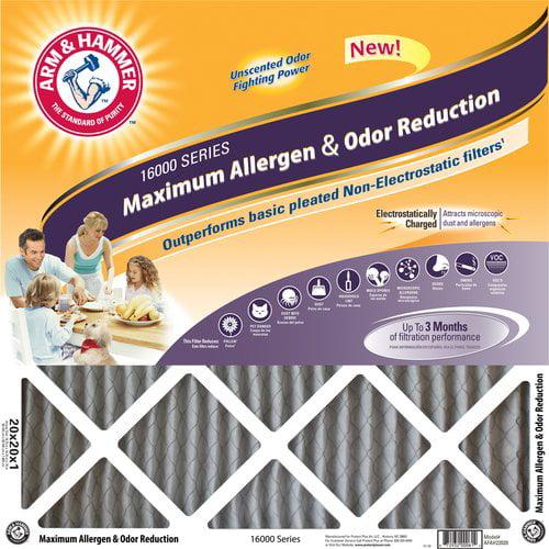 "Arm & Hammer Maximum Allergen and Odor Reduction Air Filter, 14"" x 25"""