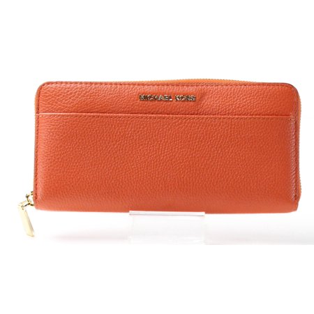 Michael Kors NEW Orange Gold Pebbled Leather Mercer Clutch (Michael Kors Online Usa)