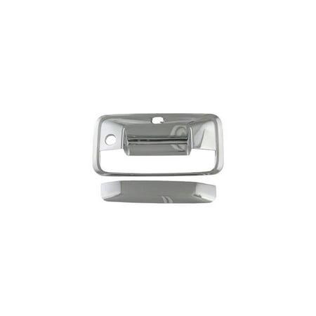 Coast2Coast C2C-TGH65530 2014-2015 Silverado - 1500 Chrome Door & Tailgate Handle Upper Half Mirror Cover 1500 Door Mirror Cover