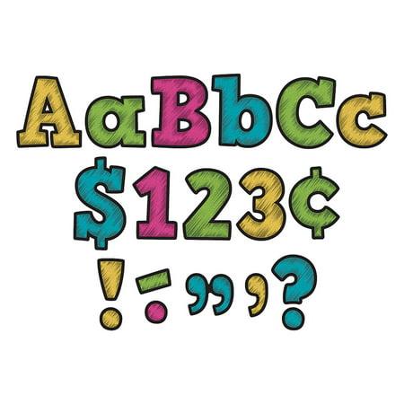 CHALKBOARD BRIGHTS BOLD BLOCK 4IN LETTERS COMBO PACK - Chalkboard Letters