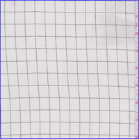 White Check Double Georgette, Fabric By the Yard
