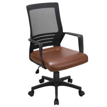 Smilemart Adjustable Midback Ergonomic Mesh Swivel Office Chair