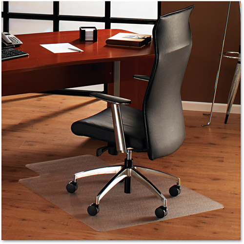 "Cleartex UltiMAT Polycarbonate Smooth Back 47"" x 35"" Rectangle Chairmat with Lip"