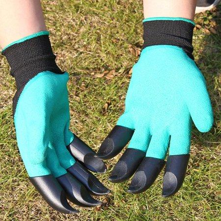 Garden Gloves Fingertips Claws Planting Gloves Quick Easy to Dig and Plant Safe Gloves Full Finger Mittens Digging Gloves - image 2 de 6