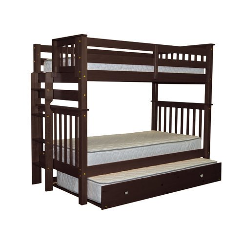 Bedz King Mission Twin Over Bunk Bed With Trundle