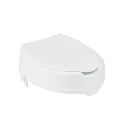 Sensational Drive Medical Raised Toilet Seat With Lock And Lid Standard Seat 4 Short Links Chair Design For Home Short Linksinfo