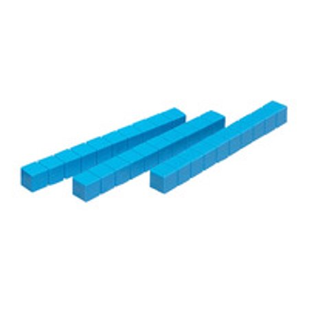 School Smart Base 10 Components Plastic Rods, Blue, Pack of 50