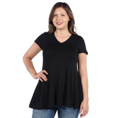 24/7 Comfort Apparel Kathy Plus Size Tunic Top