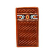 Nocona Western Wallet Classic Mens Rodeo Leather Beads Aztec N54160