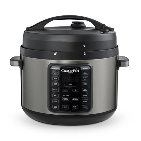 Crock-Pot 10-Qt. Express Crock Pressure Cooker with Easy Release Steam Dial, Premium Black Stainless Steel