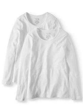 06f9a30912a3 Product Image Women's Long Sleeve Scoop Neck T-Shirt, 2 Pck Bundle