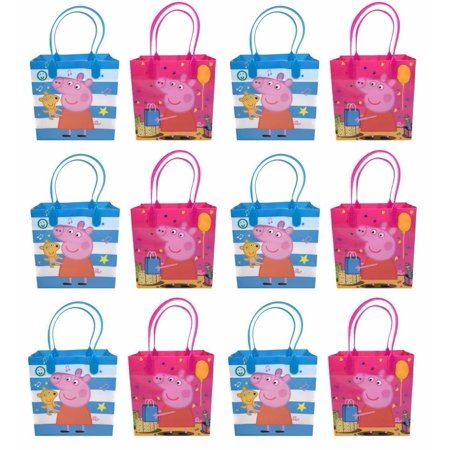Peppa Pig Goody Bags, Peppa Pig Party Favor Goodie Bags Gift Bags Birthday - Pepper Pig Birthday