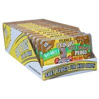 C&S Peanut Delight No Melt Suet Dough Plugs, 12/pack