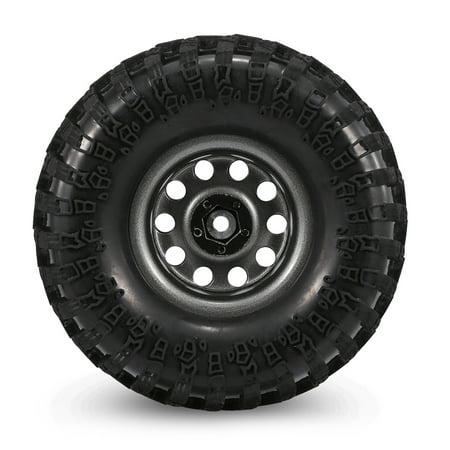 AUSTAR 4PCS 2.2 Inch 130mm Rock Crawler Wheels with Metal Hub Set for 1:10 SCX10 -4 HSP RGT RR10 Traxxas Axial RC Car - image 4 de 7