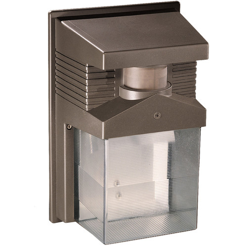 190-Degree Halogen Motion Activated Entryway Security Light in Bronze