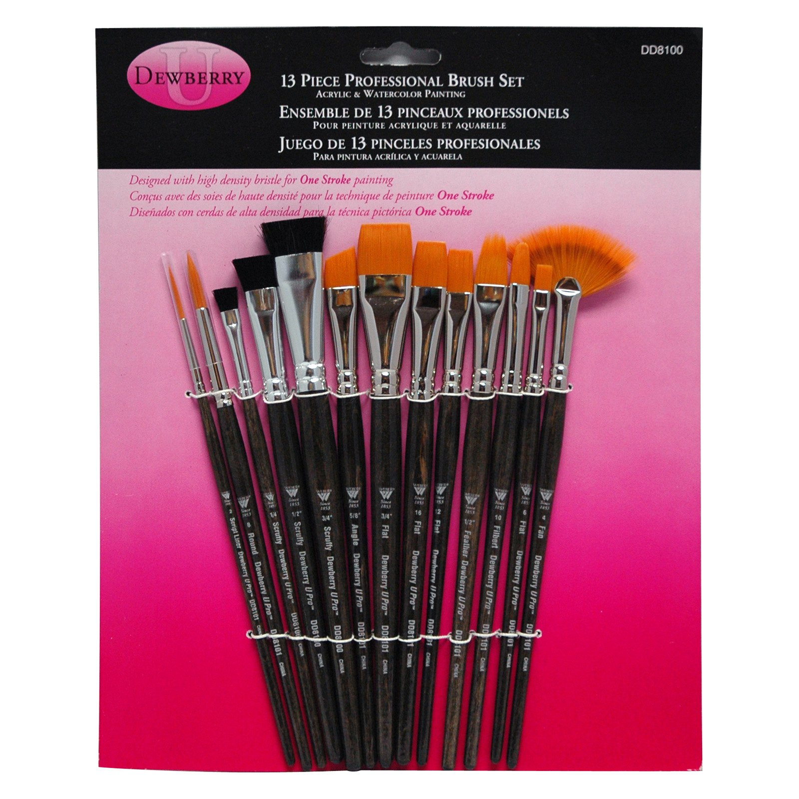 Donna Dewberry Professional Brush Set, 15/pkg