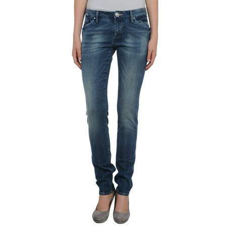 Stonewashed Jeans - LEROCK Women's Medium Blue Straight Leg Stonewashed Denim Jeans NEW