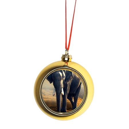 Ornament African Elephant Gold Bauble Christmas Ornament Ball
