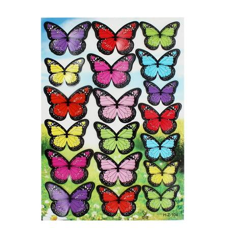 Papillon en pvc design accueil chambre d cor diy for Autocollant mural walmart