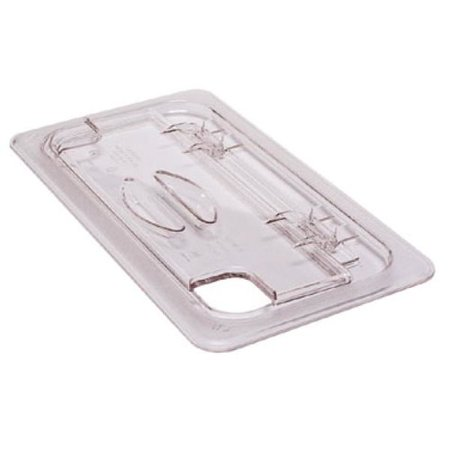 Cambro 30CWLN135 Camwear 1/3 Size Clear Polycarbonate FlipLid with Spoon Notch
