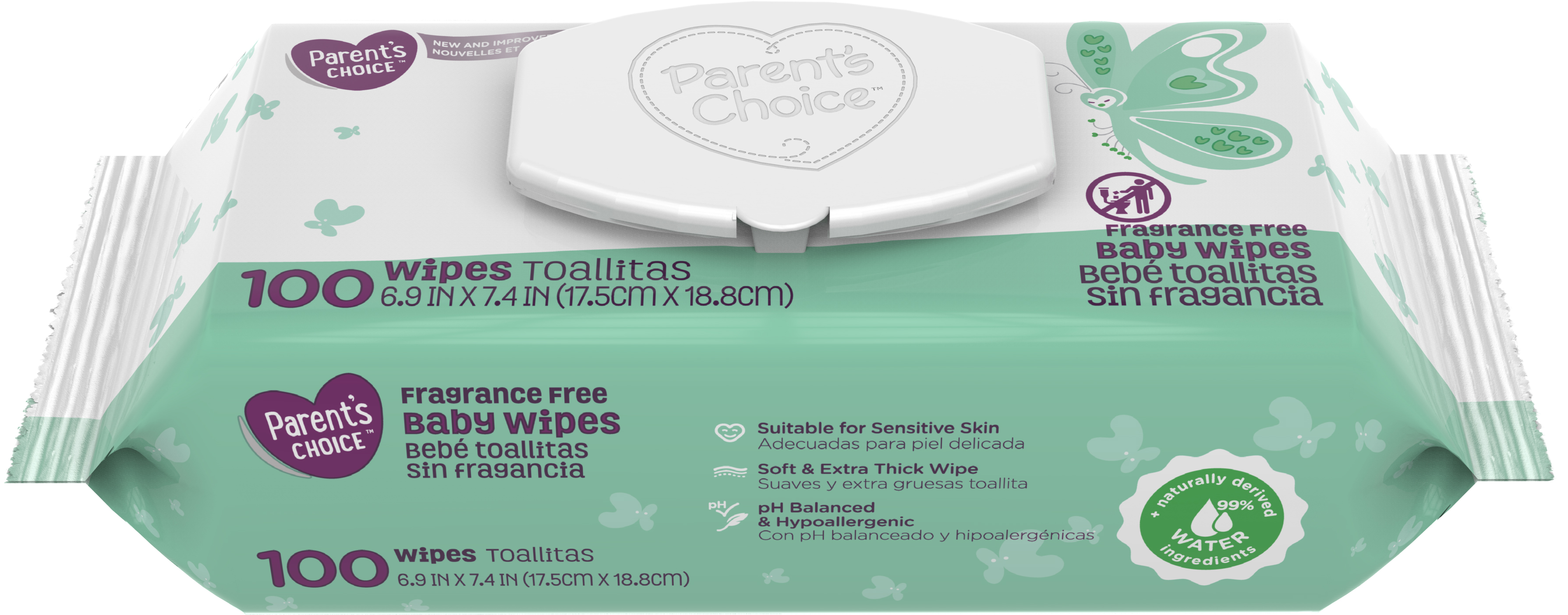 Parent/'s Choice Sensitive with Soothing Aloe Baby Wipes *Free 2 day ship