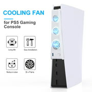 Console Cooling 3 Cooler Fans For Playstation 5 PS5 Console, Super Cooling Fan For PS5 DE/UHD Gaming Console USB Ports, Gamer Dust Plug Cover Kit, Game Console Accessories Heat Sink for PS5