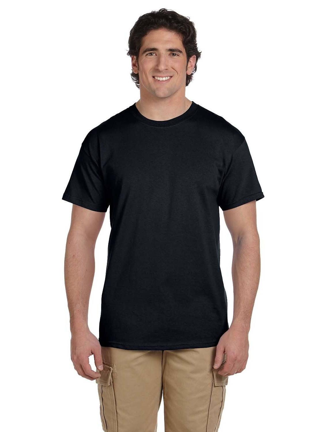 Gildan  Men's Black Ultra Cotton Undershirts (Pack of 9)