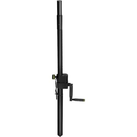 gravity stands adjustable speaker sub pole with crank. Black Bedroom Furniture Sets. Home Design Ideas