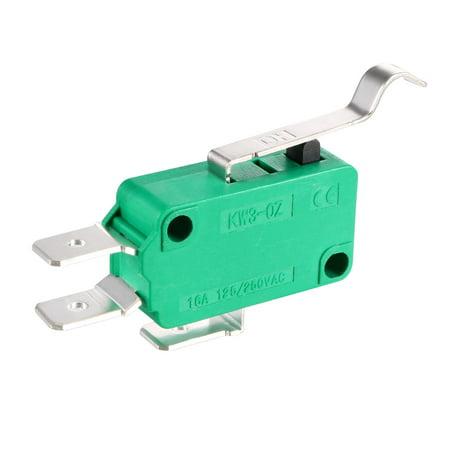 5PCS KW3-OZ-4 16A 125/250VAC Simulated R Lever SPDT NO NC Micro Limit Switches - image 2 de 4