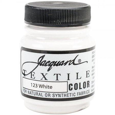 jacquard products jacquard textile color fabric paint, 2.25-ounce, white (Jacquard Fabric Paint)