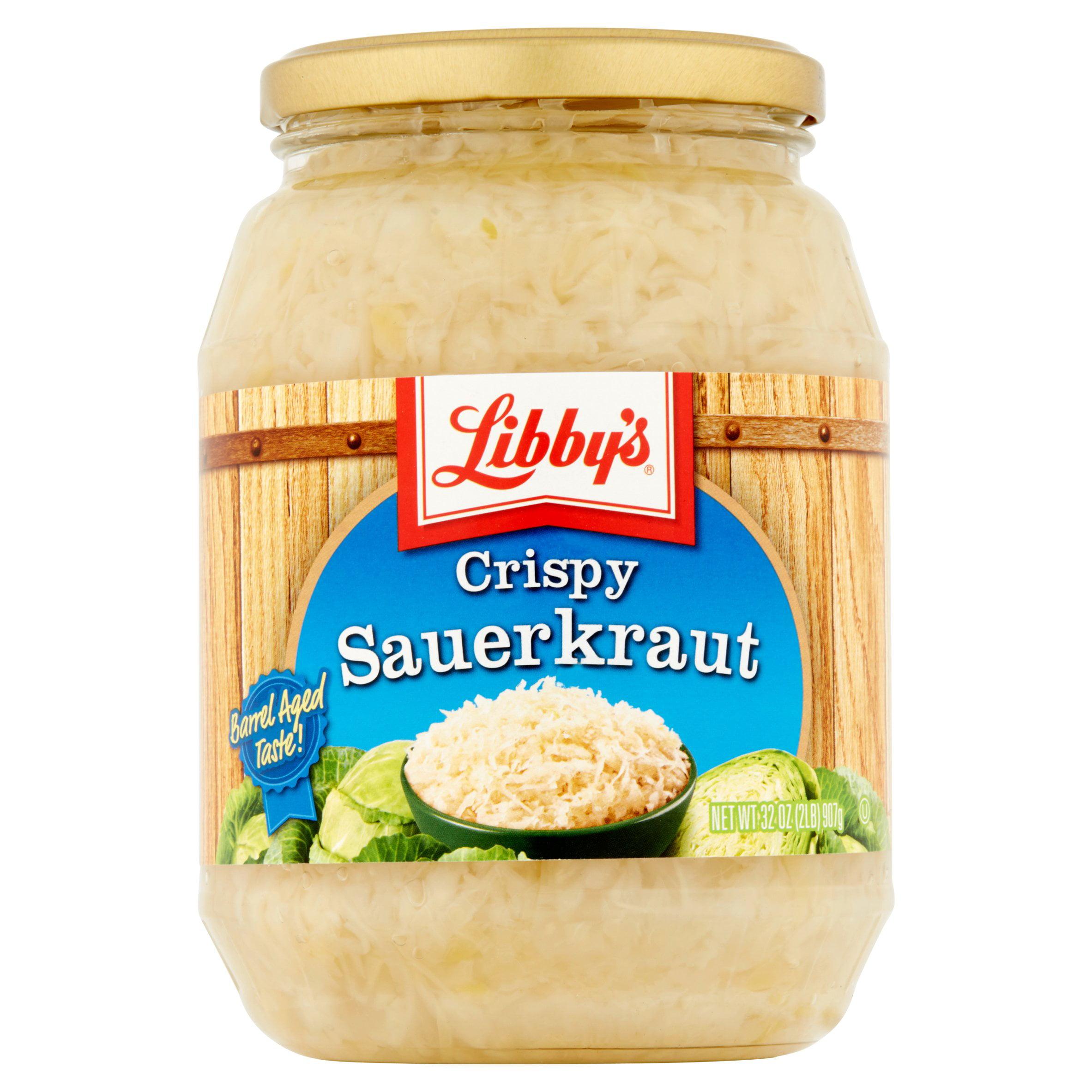 Libby's Crispy Sauerkraut 32 oz. Jar by Seneca Foods Corp.