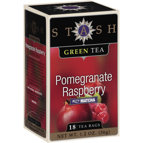 Stash Pomegranate Raspberry with Matcha Green Tea Bags, 18 ct