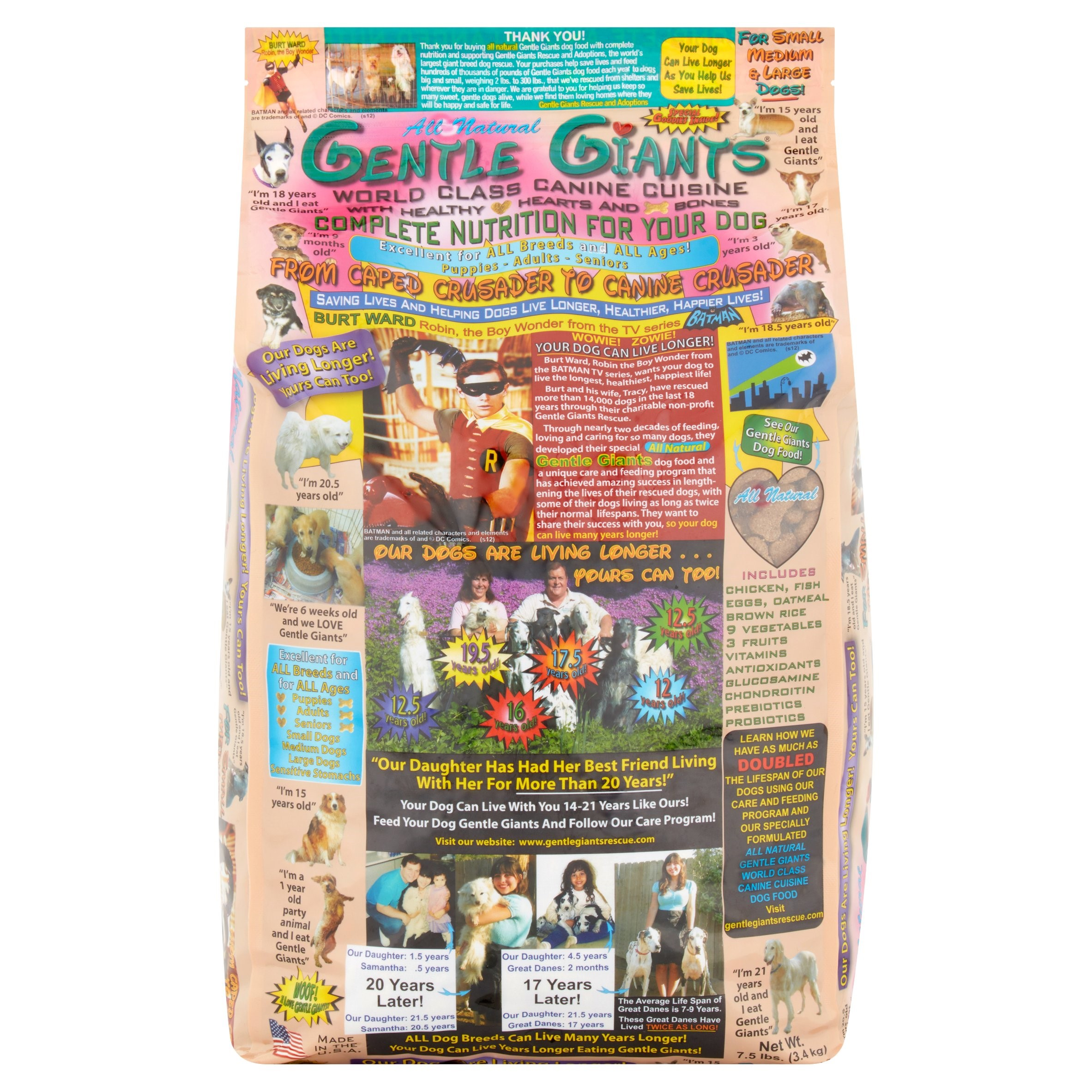 Gentle Giants World Class Canine Cuisine Dog Food, 7.5 lbs