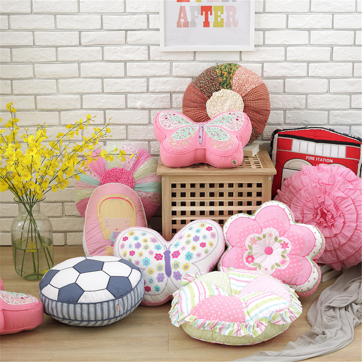 Meigar Soft Flowe Animal Plush Pillow Floor Pillow Seating Cushion Pillow Cushion for a Reading Nook, Bed Room, or Watching TV
